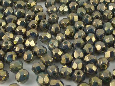 FP 3mm Bronze - Turquoise Picasso - 40 sztuk