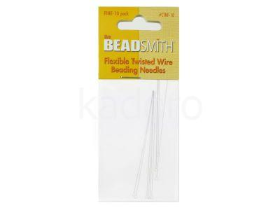 Igły Beadsmith Flexible Twisted Wire 6.4 cm Fine - 1 karnet