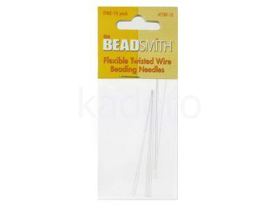 Igły Beadsmith Flexible Twisted Wire 6.4 cm Fine - 1 karnet