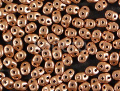 SuperDuo 2.5x5mm Matte Metallic Copper - 10 g