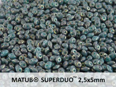 SuperDuo 2.5x5mm Luster Topaz/Pink - Turquoise - 10 g