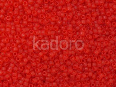 TOHO Round 15o-5BF Transparent-Frosted Siam Ruby - 5 g