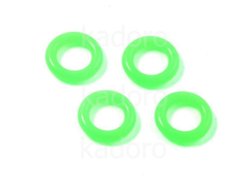 Ogniwo neonowy zielony silikonowe 10 mm - 4 sztuki