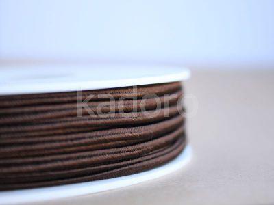 Sznurek do sutaszu acetatowy brązowy 3 mm - 1 m