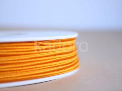 Sznurek do sutaszu acetatowy pomarańczowy 3 mm - 1 m