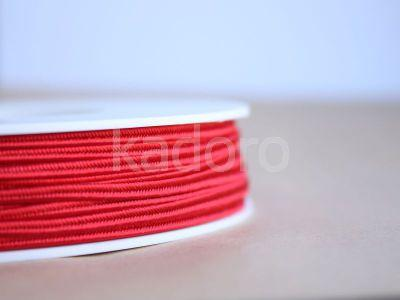 Sznurek do sutaszu acetatowy czerwony 3 mm - 1 m