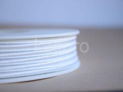Sznurek do sutaszu acetatowy biały 3 mm - 1 m