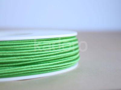 Sznurek do sutaszu acetatowy zielony 3 mm - 1 m