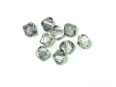Bicone 4mm Crystal Silver Shade - 6 sztuk