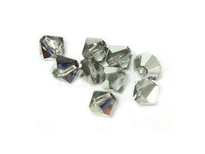 Bicone 4mm Crystal Bermuda Blue - 6 sztuk