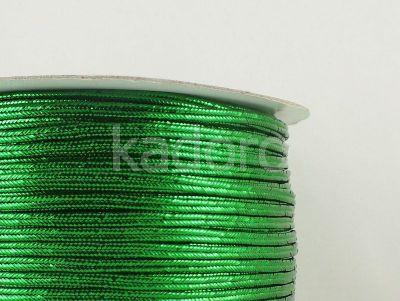 Sutasz chiński ciemnozielony metalizowany 3mm - 1 m