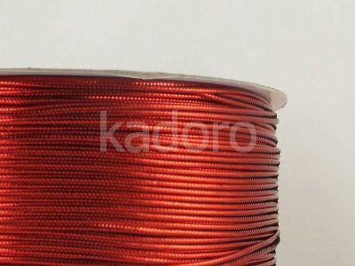 Sutasz chiński czerwony metalizowany 3mm - 1 m