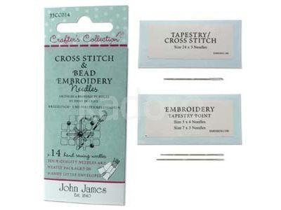 Igły John James Cross Stich and Bead Embroidery - 1 zestaw