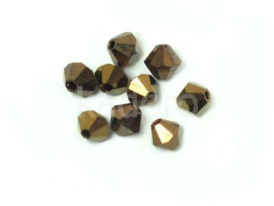 Bicone 6mm Dark Bronze - 4 sztuki