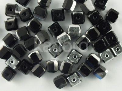 FP Cube 6mm Jet - Silver - 4 sztuki