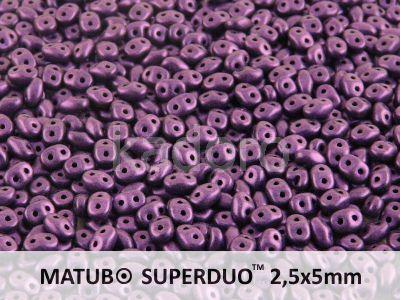 SuperDuo 2.5x5mm Metallic Suede Lavender - 10 g
