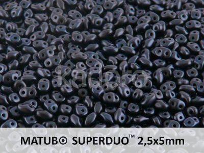SuperDuo 2.5x5mm Metallic Suede Dark Blue - 10 g