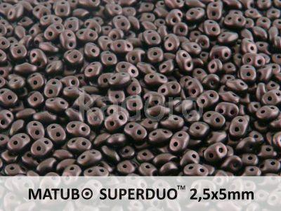 SuperDuo 2.5x5mm Metallic Suede Dark Violet - 10 g