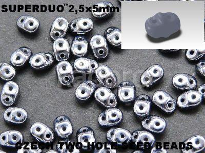 SuperDuo 2.5x5mm Hematite - 100 g
