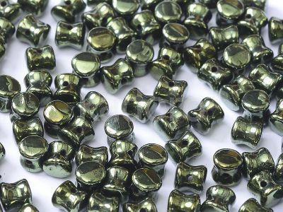 Pellet 4x6mm Luster - Metallic Olivine - 20 sztuk