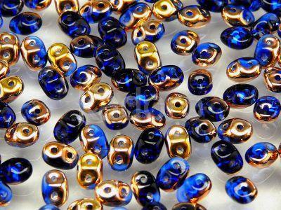 SuperDuo 2.5x5mm Copper - Sapphire - 10 g