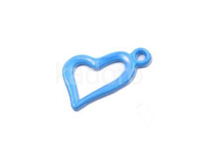 Zawieszka niebieskie serce 18x10 mm - 1 sztuka
