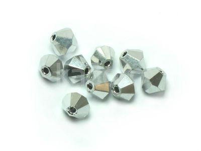 Bicone 5mm Silver - 4 sztuki