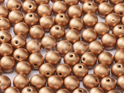 Round Beads Matte Metallic Copper 6 mm - 20 sztuk