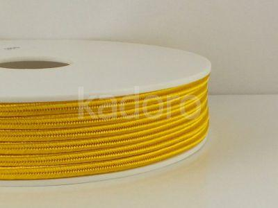 Sznurek do sutaszu acetatowy żółty II 3 mm - 1 m