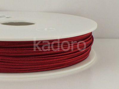 Sznurek do sutaszu acetatowy ciemnoczerwony 3 mm - 1 m