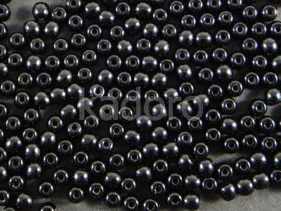 Round Beads Jet 4 mm - opakowanie