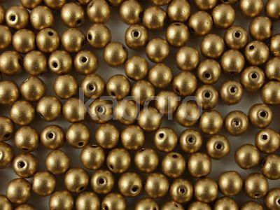 Round Beads Matte Metallic Flax 4 mm - opakowanie