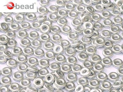 O bead Matte Metallic Aluminium - 5 g