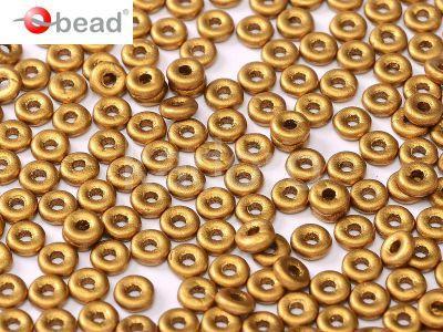 O bead Matte Metallic Brass Gold - 5 g