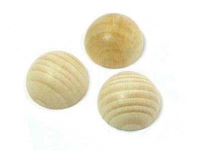 Drewniana półkula 30 mm - 1 sztuka