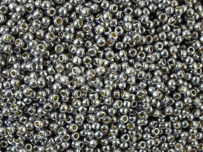TOHO Round 11o-PF568 Permanent Finish - Galvanized Gunmetal Gray - 10 g