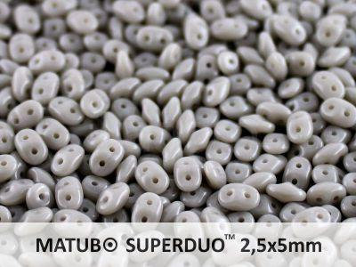 SuperDuo 2.5x5mm Opaque Grey - 10 g