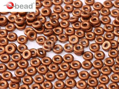 O bead Matte Metallic Copper - 5 g