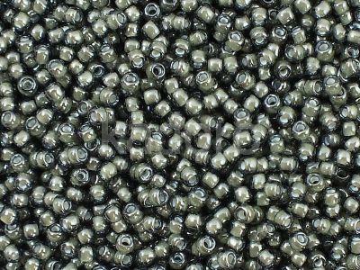 TOHO Round 11o-371 Inside-Color Black Diamond - White Lined - 10 g
