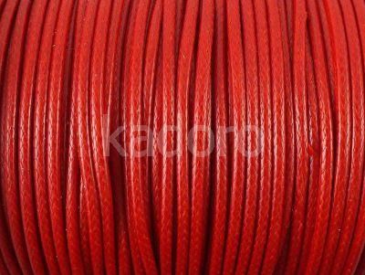 Sznurek lakierowany czerwony 2 mm - 2 m