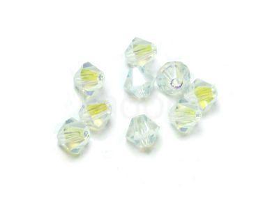 Bicone 3mm Crystal ABx2 - 6 sztuk