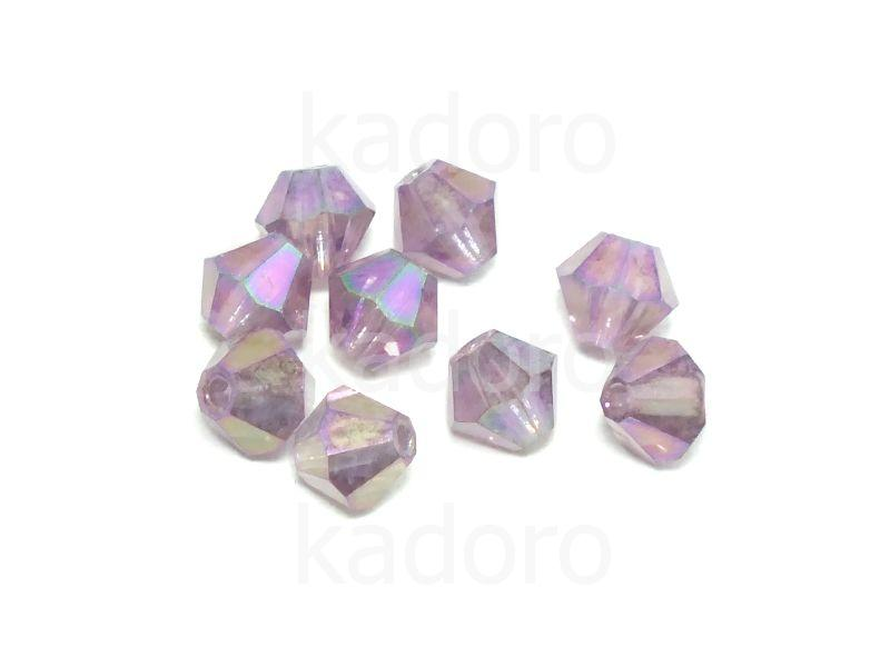 Bicone 4mm Amethyst Purple Iris - 6 sztuk