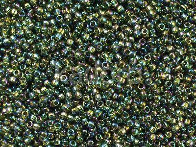 TOHO Round 15o-180 Trans-Rainbow Olivine - 5 g