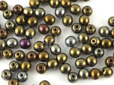 Round Beads Iris Brown 4 mm - opakowanie