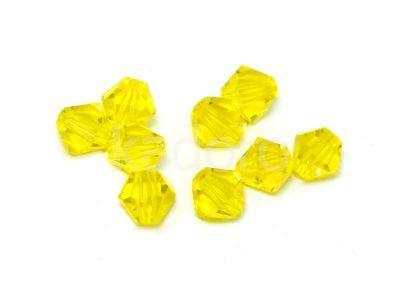 Bicone 4mm Lemon - 6 sztuk