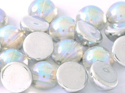 Dome Bead Crystal Silver Rainbow 14x8mm - 1 sztuka