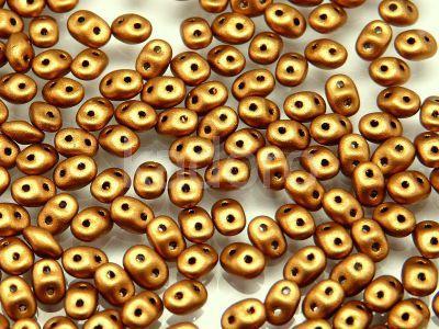 SuperDuo 2.5x5mm Matte Metallic Brass Gold - 10 g