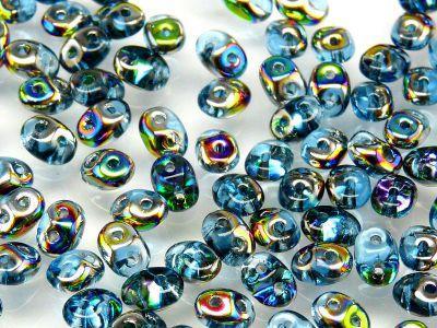 SuperDuo 2.5x5mm Aquamarine Vitrail - 10 g