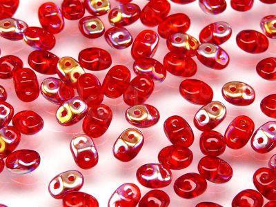 SuperDuo 2.5x5mm Siam Ruby AB- 10 g