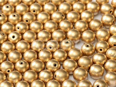 Round Beads Matte Metallic Flax 6 mm - 20 sztuk